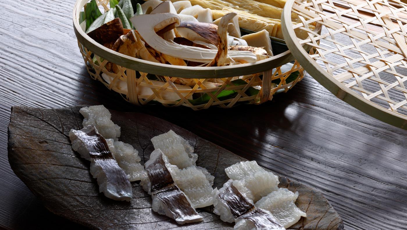 Hamo (Conger Eel)  and Matsutake Mushrooms